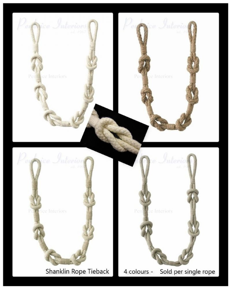 Natural Shanklin Rope Curtain Tieback Knot Style Tie